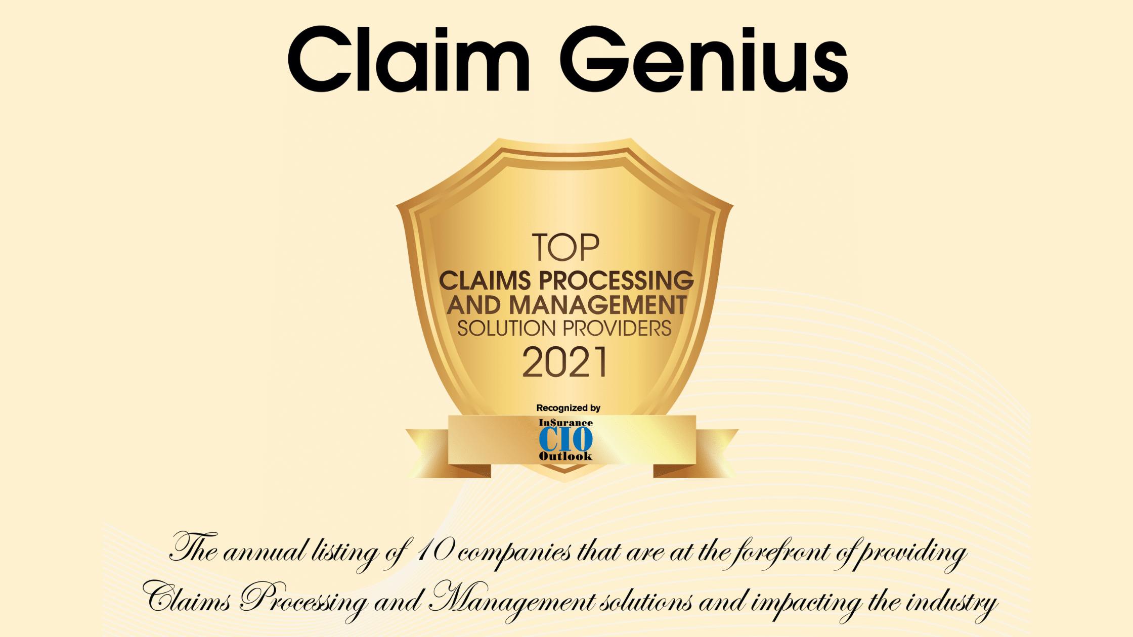 Insurance CIO Outlook Award Certificate